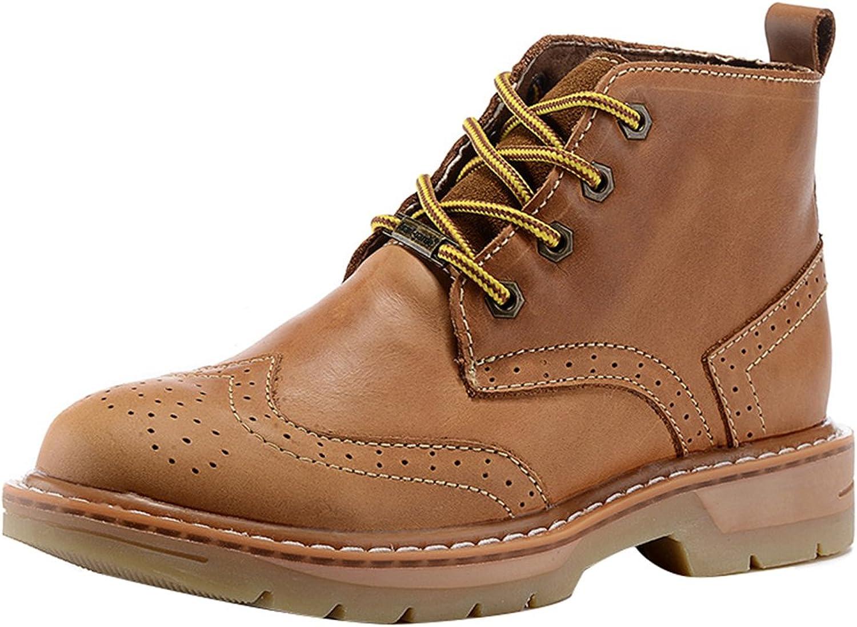 SK Studio Men Leather Lace Up Plain Toe Chukka Boot