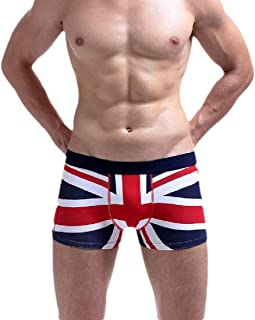 Men's Comfort All Over Stretchy Boxer Briefs Print British Flag Underwear