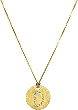 Roberto Coin Tiny Treasures 18K Yellow Gold Initial D Pendant Necklace