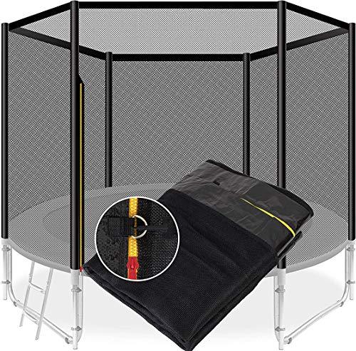Repuestos para cama elástica, Red de repuesto para cama elástica Ø 140 183 244 305 366 488cm Adecuado para 6/8 postes, Red de repuesto para cama elástica para niños al aire libre,488cm 12 poles