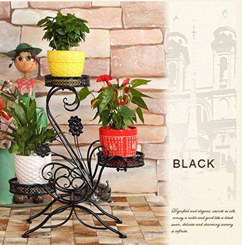 Cadre floral/Support pour plantes d'extérieur / 3 niveaux Flower Racks-Style européen Iron Metal étagère debout pour plante fleur Pot Stable Plant Stand Support fermement jardin étagère de rangement