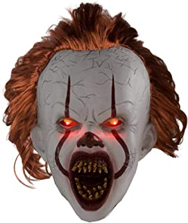 Ani·Lnc Halloween Clown Mask Headgear It: Chapter Two Pennywise (Clown Back Spirit 2) Adult Mask