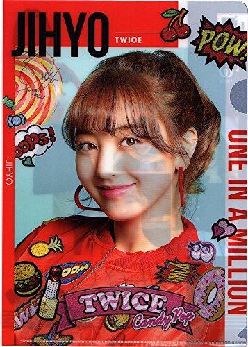 韓国 K-POP ☆TWICE トゥワイス JIHYO ジヒョ☆ クリアファイル A4サイズ クリアホルダー �B