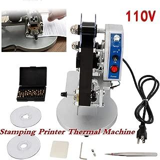 Thermal Foil Stamp Printer 110V Manual Hot Stamp Printer Coding Machine Electric Ribbon Coder Code Printer