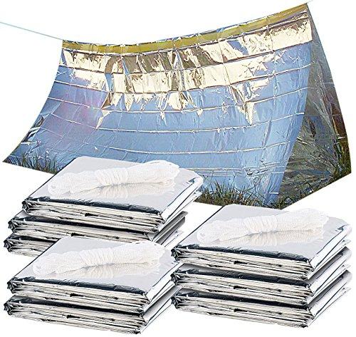 Semptec Urban Survival Technology Outdoor-Zelte: 8er-Set Notfall-Zelte für 2 Personen, hitzeabweisend, kältedämmend (Survival-Zelt)