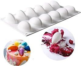 Silicone Molds for Baking 3D Fruit Shape Mousse Cake Molds 3D Mango Quenelles-12 Cavity White