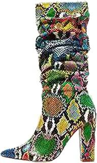 Melady Women Fashion Mid Boots Block High Heels
