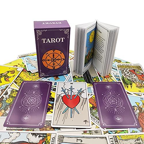 EYXVKT Tarot Cards Classic Tarot Decks 78 Cards with Guidebook for Tarot Beginners