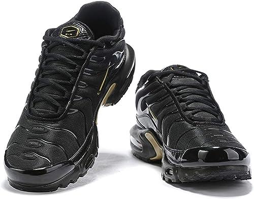 Air Plus TN Hommes FonctionneHommest paniers Chaussures (41 EU, Noir Noir Noir Jaune d'or) b6b