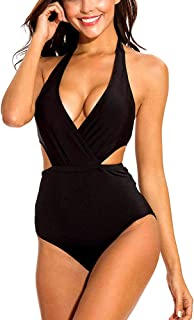 ANDNICE Swimsuit for Women Two Pieces Bathing Suits Top Ruffled Racerback with High Waisted Bottom Tankini Set