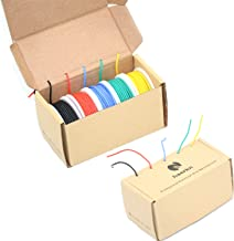 18 awg Silicone Electrical wire Cable 5 Colors (13.2ft each) 18 gauge Spool HookUp wires electronics kit stranded Tinned Copper wire Flexible and soft for DIY (18 Gauge)