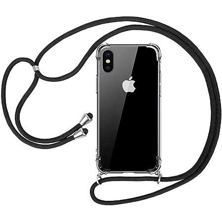 laxikoo Cover iPhone XS Tracolla, Custodia iPhone X Trasparente TPU Silicone Cellulare Girocollo per iPhone XS Cover Tracolla - Collana iPhone X ...