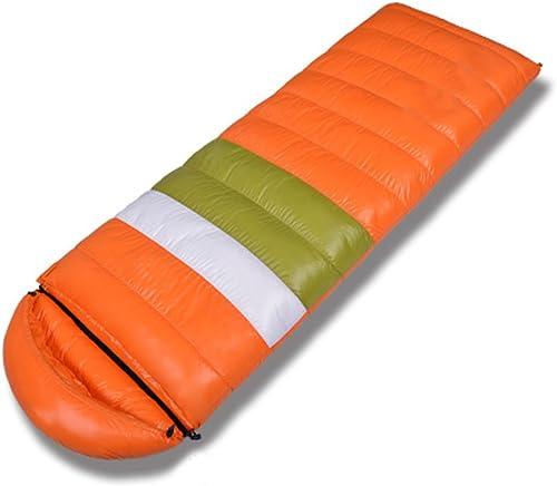 Sac De Couchage Sac De Couchage En Plume Sac De Couchage En Coton épais Sac De Couchage En Duvet De Canard Blanc,OrangeStripes-1500G