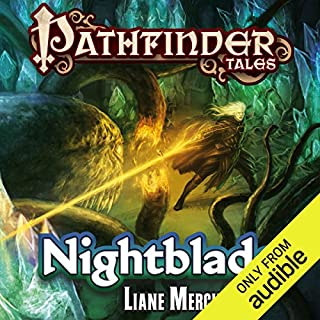 Nightblade audiobook cover art