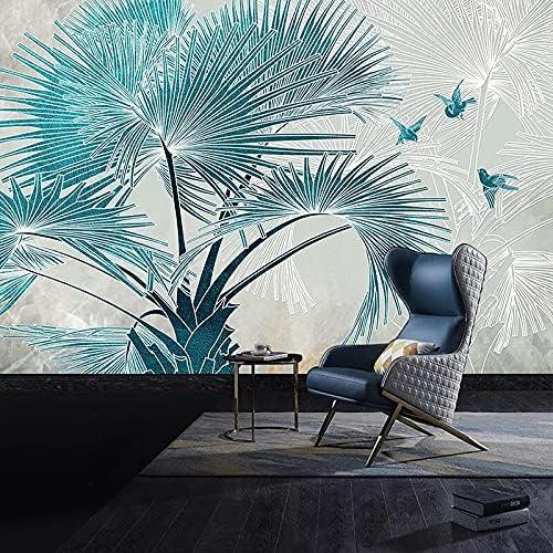 HGFHGD Self-Adhesive Photo Wallpaper San Jose Mall 3D Charlotte Mall Embossed Tree Bird Palm
