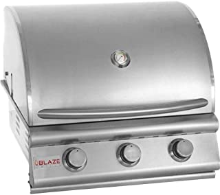 """25"""" 3-Burner Built-In Gas Grill Gas Type: Propane"""