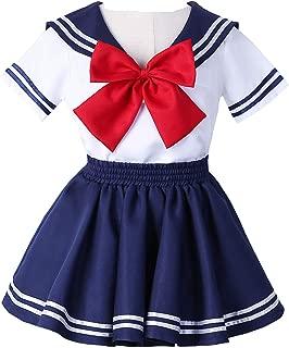 Joyshop Anime Kids Girl's School Uniform Sailor Dress,Small