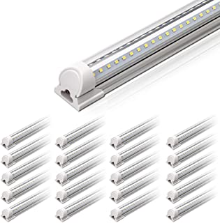 Barrina 4FT LED Shop Light, 40W 5000LM 5000K(100,000lumens Totally), Daylight White, V Shaped, Triple Glow Light, led Ligh...