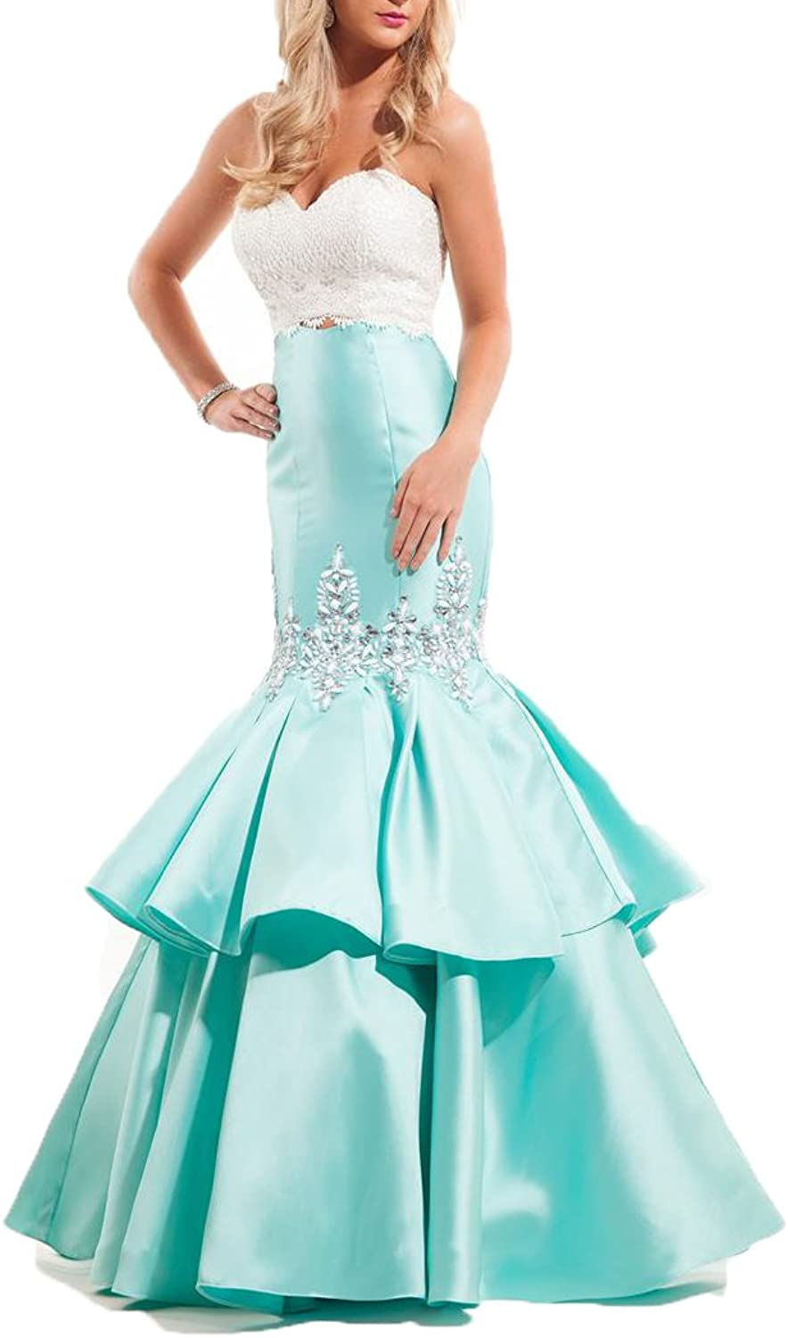 Ellenhouse Women's Long Sweetheart Beaded Mermaid Evening Prom Party Dress EL235