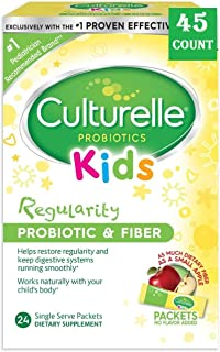 Culturelle Kids Regularity Probiotic & Fiber Dietary Supplement   Helps Restore Regularity & Maintain Smooth Digestion   Works Naturally with Child's Body   45 Single Packets (45 Single Packets)