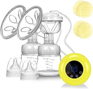 Phiraggit Tire-lait /électrique,Tire Lait Electrique Mode Massage,Sucer-9 Niveaux Sein Pompes Rapide sans Douleur USB Rechargeables Non Toxique CE Certification Ultra-silencieux,2 modes