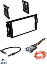 ASC Audio Car Stereo Radio Dash Install Kit, Wire Harness, and Antenna Adapter to Install a Double Din Radio for 2004 2005 2006 2007 2008 Pontiac Grand Prix w/ No Factory Premium Amp