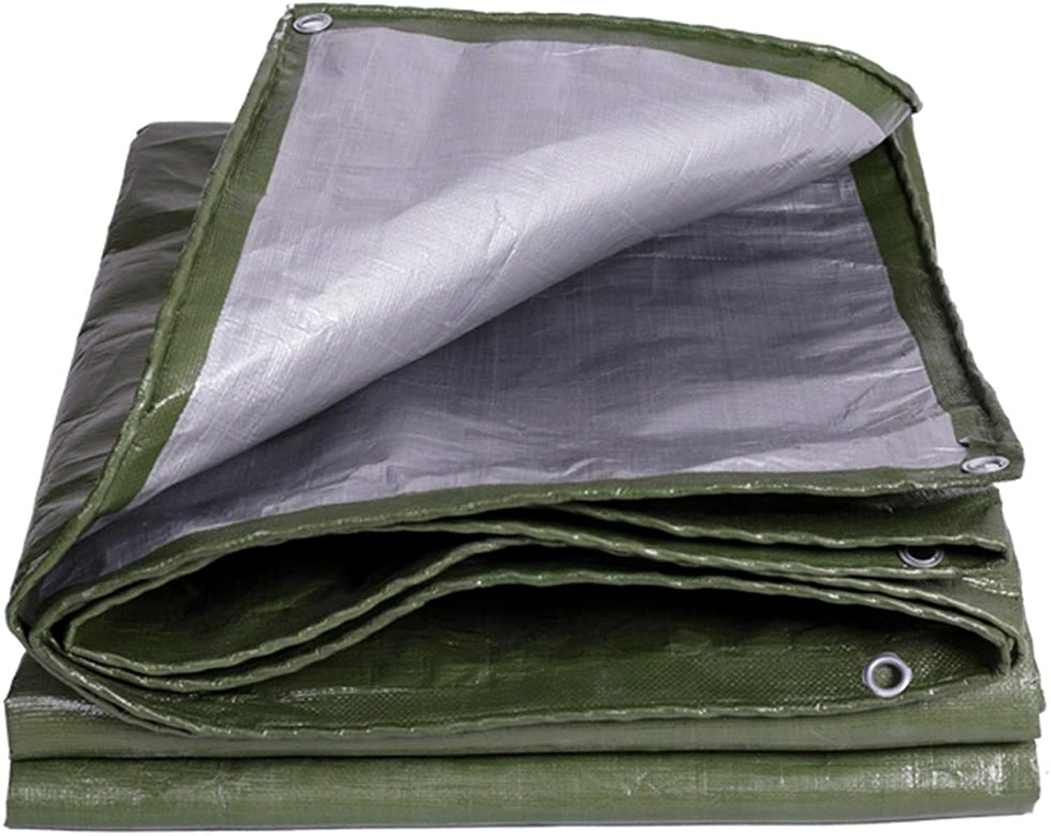 Thickened Waterproof Cloth Waterproof Sunscreen Tarpaulin Outdoor Sunshade Shelter Awning Cloth Truck Cover Cloth Plastic Oil (color   Green, Size   3  3)