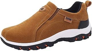 LuckyGirls Hombre Zapatillas de Correr Casual Calzado de Deporte Zapatos Deportivos Sin Cordones Moda Bambas de Running Zapatos de Senderismo