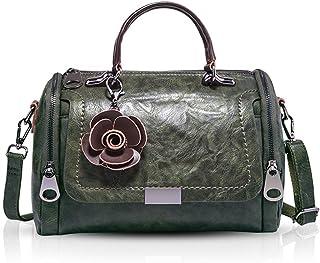 NICOLE & DORIS Damen handtaschen Frauen Retro Tasche PU Leder Schultertasche Vintage Top Griff Klein Blumen Crossbody Umhä...
