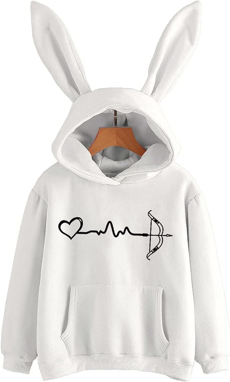 Women's Cheap Fashion Cosplay Rabbit Hoodie online shopping Print Sweater Sleeve Long