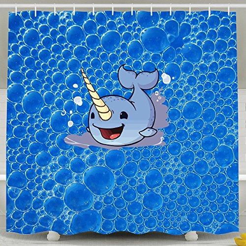 Funny Cute Little narwhals cortinas de ducha para el hogar/Traval/Hotel con ganchos