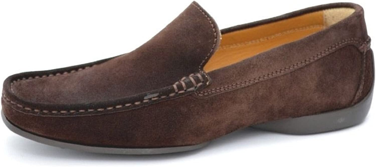 Pratik Albert mens loafer Beste driving shoes.Very flexible combination of quality leather and rubber sole.very comfortable every day wear (40, Brown Suede leather)
