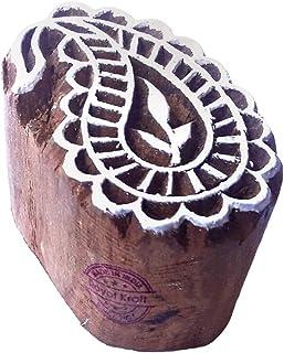 ختم خشبي مزركش للطباعة بالكتل TE, خشب, بني, TEtag003