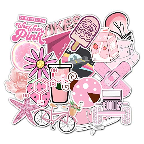 ZZX Cute Cartoon Suitcase Trolley Case Laptop Pink Series Stickers 50Pcs