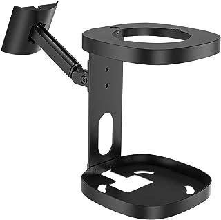 Verstellbare Wandhalterung und Deckenhalterung für Sonos One SL / One Schwenk  & Neigungsverstellung Montagewinkel für Sonos One SL Lautsprecher schwarz
