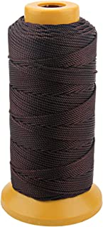 328 Feet Twisted Nylon Line Twine String Cord for Gardening Marking DIY Projects Crafting Masonry (Coffee, 1.5mm-328 feet)