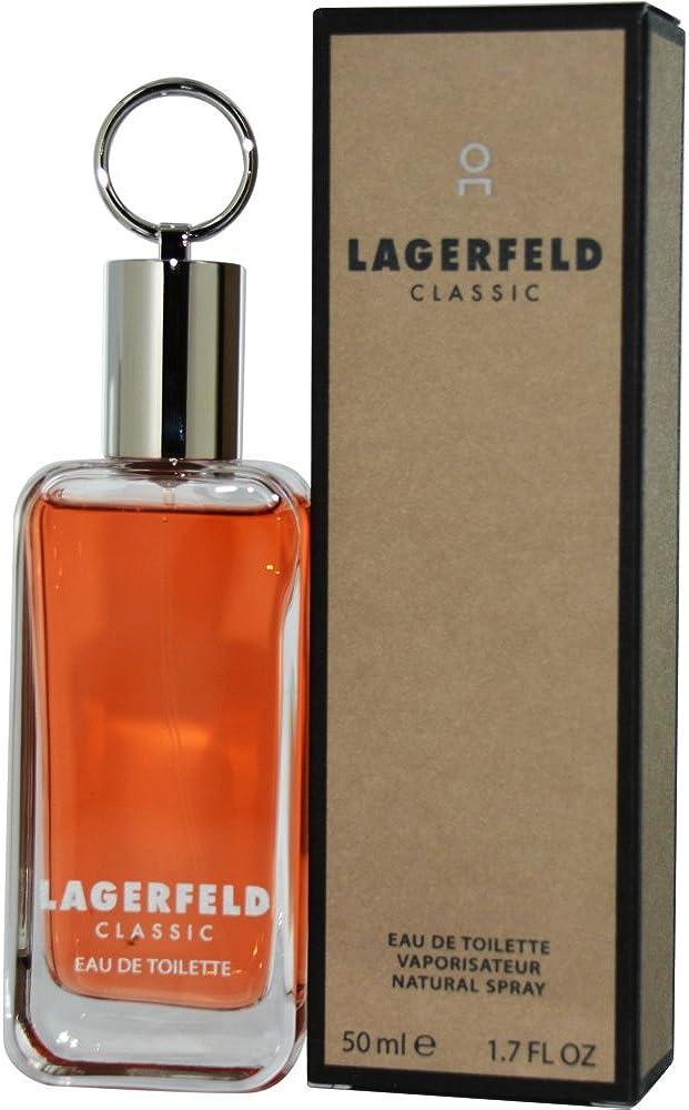 Karl lagerfeld classique, eau de toilette,profumo per uomo, 50 ml 3386460058407