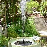 DSHUJC Solarbrunnenpumpe im Freien Tragbare solarbetriebene fließende Wasserschwimmbrunnenpumpe Innovative Landschaft für Gartenpool