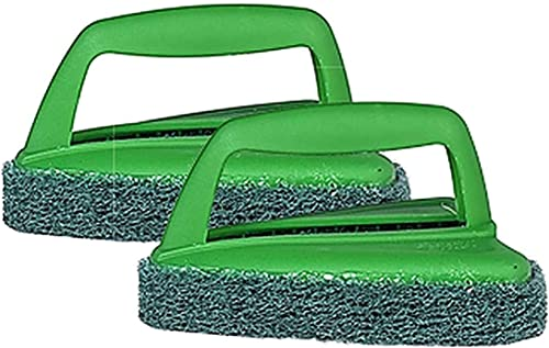 Scotch-Brite Fibre Bathroom Scrubber Brush (Green, Pack of 2) (H18-6024)