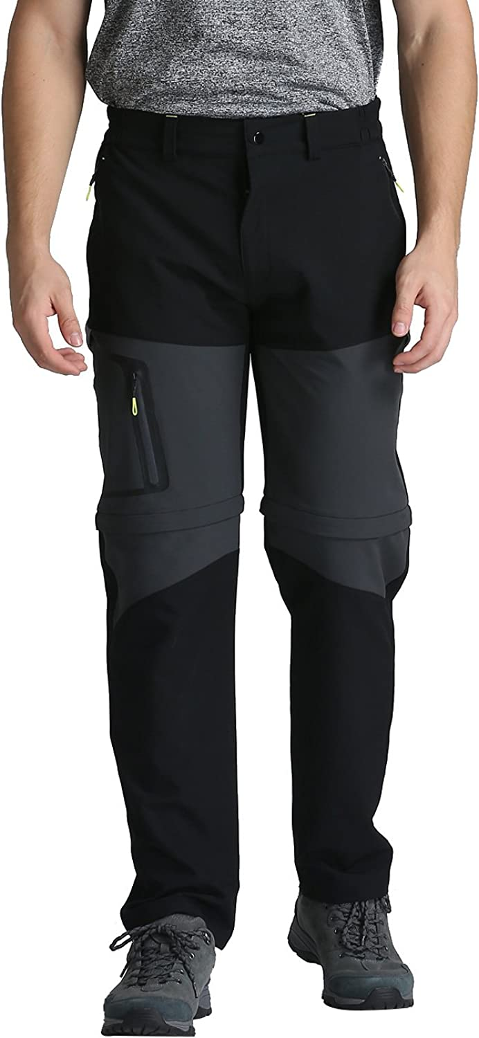Outto Men's Stretch Congreenible Belted Zip Off Hiking Pants