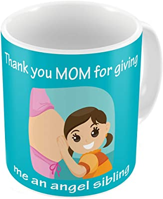 Indigifts Special Gift for Mom Mothers Day Birthday Anniversary Mommy to Be Thank You Mom for Sibling Blue Best Quality Ceramic Mug Everyday Gifting