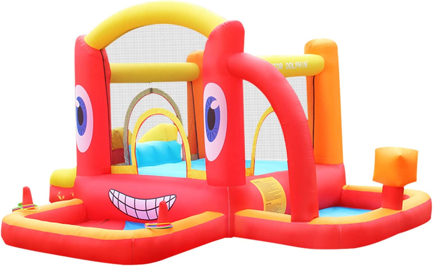 Doctor Dolphin Inflatable Bouncy House Kids Castle for Bounce - security Max 60% OFF