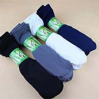 Calcetines Medias para Hombres Calcetines Finos de Primavera y Verano Calcetines desodorantes con Tubo de Seda Antideslizante Negro 10/20 Pares,