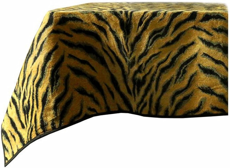 TXXM Tischdecken Neo-Klassische Luxus-Gold Chenille Tiger Stripes Tischdecke (größe   60  60cm) B076DYHM2Y Wirtschaftlich und praktisch   Qualität und Verbraucher an erster Stelle