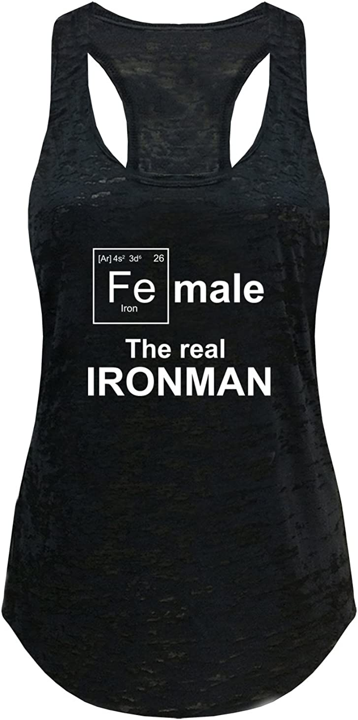 Tough Cookies Womens Female Ironman Funny Workout Tank Top