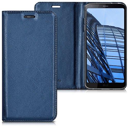 kwmobile Hülle kompatibel mit LG G6 - Kunstleder Handy Schutzhülle - Flip Cover Hülle Dunkelblau