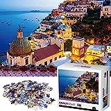 Puzzle 1000 Pezzi - Amalfi coast, Puzzle Adulti, Puzzle per Gioco Familiare,Puzzle Classici,1000 Pezzi Jigsaw Puzzle per Adulti,Giochi Puzzle Famiglia per Adulti Bambini,Regalo per Amore e Amicoper