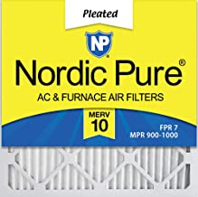 Nordic Pure 20x20x1 MERV 10 Pleated AC Furnace Air Filter, Box of 6