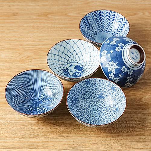 Vajilla y tazón de fuente del viento Tazón del hogar Tazón de fuente importado de Japón de la vajilla de mesa 5 Combinación del paquete