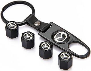 N//A 4 Pezzi Tappi valvola Pneumatici Auto Coperchio in Lega di Alluminio per Mazda Speed Mazdaspeed 2 3 6 CX-3 CX-4 CX-5 CX-7 CX-8 Atenza Axela AutoExe
